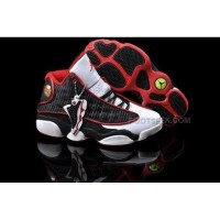 Air Jordan 13 XIII Retro Women Shoes White Black Red