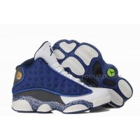 Air Jordan 13 XIII Retro Women Shoes White Blue Black