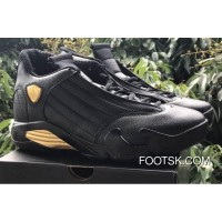 "Free Shipping Air Jordan 14 ""DMP"" Black/Metallic Gold-Varsity Red"