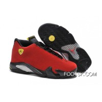 "Authentic 2016 Air Jordan 14 ""Ferrari"" Chilling Red/Black Vibrant Yellow"