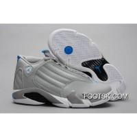 "Air Jordans 14 Retro ""Sport Blue"" Wolf Grey/White Online"