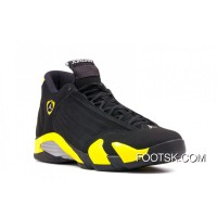"Air Jordans 14 Retro ""Thunder"" Black/Vibrant Yellow-White Lastest"