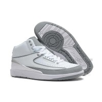 Air Jordan 2 (II) White/Metallic Silver-Neutral Grey For Sale
