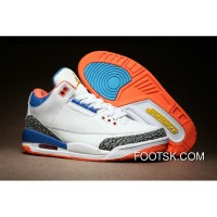 Air Jordan 3 White Cement True Blue Orange New Release