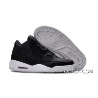 "2016 Air Jordan 3 ""Cyber Monday"" Black/Black-White On Sale Best"