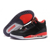 Air Jordans 3 Retro Black/Bright Crimson-Canyon Purple-Pure Violet Cheap To Buy