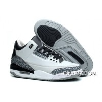 Air Jordans 3 Retro Wolf Grey/Metallic Silver-Black-White Cheap To Buy
