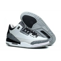 Hot Sale Air Jordan 3 Retro Wolf Grey/Metallic Silver-Black-White