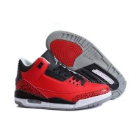 New Air Jordan 3 Retro Custom Chicago Bulls Red/Black
