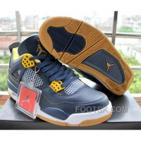 Air Jordan 4 Dunk From Above Navy Blue Yellow Discount