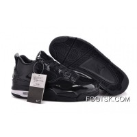 Air Jordans 4 11Lab4 Black Patent Leather Free Shipping
