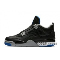 'Alternate Motorsport' Air Jordan 4 Black/Game Royal-Matte Silver-White Best 66rGQJ