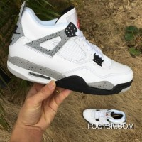 "2016 ""White Cement"" Air Jordan 4 OG Authentic 6rR8wT"