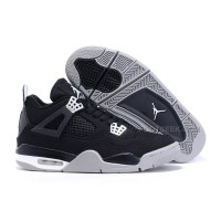 Men Nike Sneakers Air Jordan 4 Retro Black/Grey