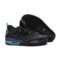 "Air Jordan 4 ""Black Grape"" Black/New Emerald-Grape Ice Cheap Online"