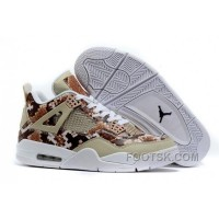"2016 Air Jordans 4 ""Snakeskin"" White Grey Brown Free Shipping"