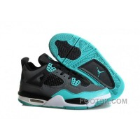 "Air Jordans 4 Retro ""Tiffany"" Teal-Black/Cement Grey Cheap To Buy"