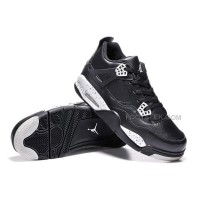 "Air Jordan 4 Retro ""Oreo"" Black Leather/White Speckle Wholesale Online"