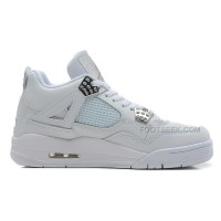 "Best Price Basketball Shoes Air Jordan 4 Retro ""Silver 25th Anniversary"""