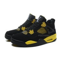 "Cheap Sale Air Jordan 4 Retro ""Thunder"" Black/White-Tour Yellow"