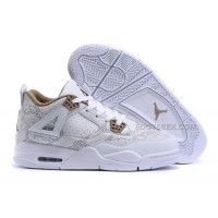 2016 Air Jordan 4 (IV) White Snakeskin Popular For Sale