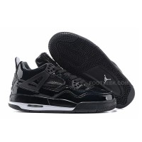 "Air Jordan 4 Retro 11Lab4 ""Black Patent Leather"" All Black For Sale"