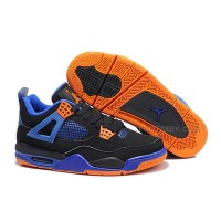 "Air Jordan 4 (IV) Retro ""Cavs"" Black/Game Royal-Orange Blaze"