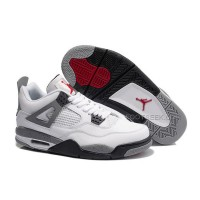 Air Jordan 4 (IV) Retro White/Cement Grey For Sale