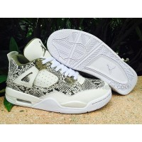 "2016 New Nike Sneakers Air Jordan 4 ""Snakeskin"""