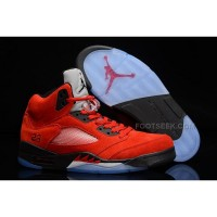 "Nike Air Jordan 5 ""Raging Bull or Toro Bravo"" 2015 Red Suede Hot For Sale"