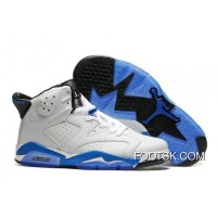 "2016 Air Jordan 6 ""Sport Blue"" White/Sport Blue-Black Super Deals"