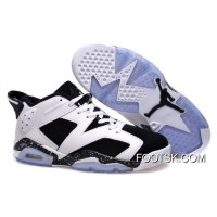 "Air Jordans 6 Low ""Oreo"" White/Black Shoes New Style"