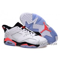 Air Jordans 6 Low White/Infrared 23-Black Free Shipping
