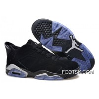 "Air Jordans 6 Low ""Black/Metallic Silver"" Free Shipping"