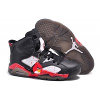 "Air Jordans 6 Retro Custom ""Angry Birds"" Black-White/Red Specked Online Lastest"