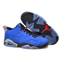 "Cheap Price Air Jordan 6 Low ""Eminem"" Custom Blue Black/Grey Basketball Shoes"