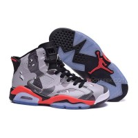 "Sale Air Jordan 6 Retro Custom ""Desert"" Grey/Black Camo Basketball Shoes"