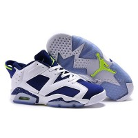 "Air Jordan 6 Retro Low ""Ghost Green"" White/Ghost Green-Insignia Blue 2015"