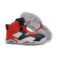 Air Jordan 6 Retro Black White Red New Style On Sale