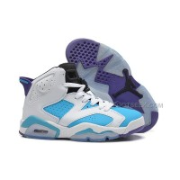 Air Jordan Retro 6 White Blue Purple On Sale Free Shipping