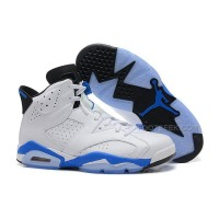 Air Jordan 6 (VI) Retro White/Sport Blue-Black Online For Sale