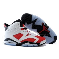 Air Jordan 6 (VI) Retro White/Carmine-Black Cheap For Sale