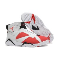 Air Jordan 7 (VII) White/Carmine-Black Cheap For Sale