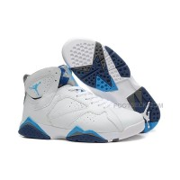 Air Jordan 7 (VII) White/French Blue-Flint Grey For Sale
