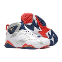 Air Jordan 7 White/Metallic Gold-Midnight Navy/True Red For Sale