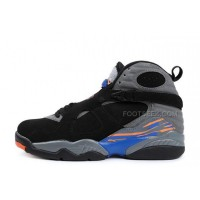 Air Jordan 8 Retro Black/Bright Citrus-Cool Grey-Deep Royal Blue For Sale