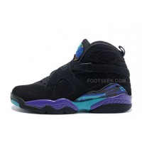 Air Jordan 8 Retro Black/Dark Concord-Anthracite-Aqua Tone For Sale