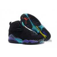 Mens Air Jordan 8 Black/Dark Concord-Anthracite-Aqua Tone For Sale