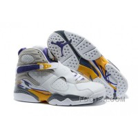 "Discount Mens Air Jordan 8 ""Kobe Bryant Lakers Home"" PE"