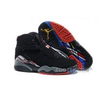 "Christmas Deals Mens Air Jordan 8 ""Playoffs"" Black/True Red-White"